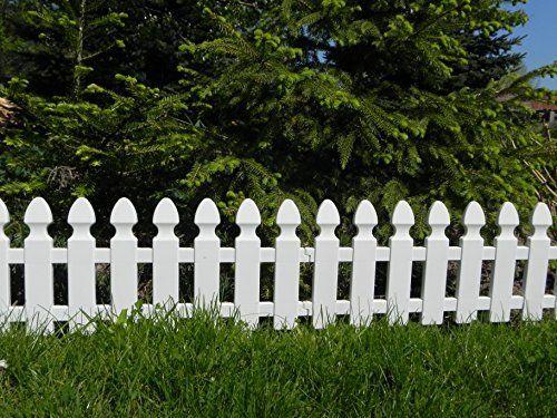 Zaun Rasenkanten Beeteinfassung Palisade Beetumrandung Garten Rasen Zierzaun Gartenzaun Weiss 2 00 M Set 4 Module Ama Rasenkanten Gartenzaun Weiss Beetumrandung