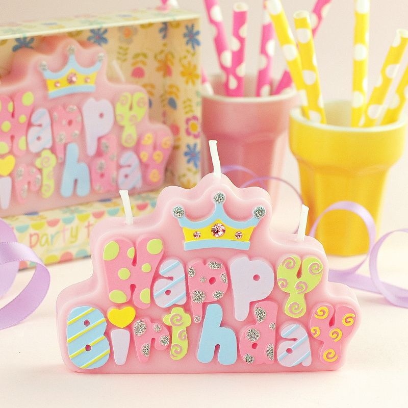 Find More Information About Crown With Diamond Happy Birthday Letter Candle Child Cake Top Decoration 1pc FreeshippingHigh Quality