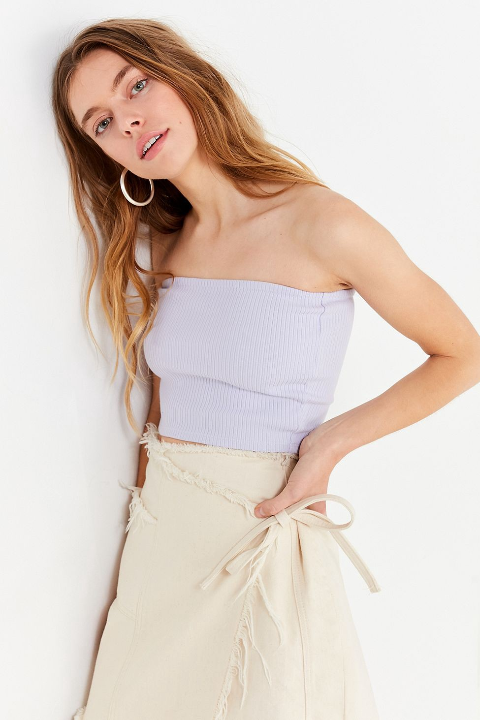 075c0b91ff Urban Outfitters Uo Hallie Ribbed Knit Tube Top - Yellow Xs ...