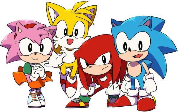 The Classic Crew. They Are So Cute! Cómo Dibujar A Sonic, Personajes De  Juegos, Sonic Dibujos