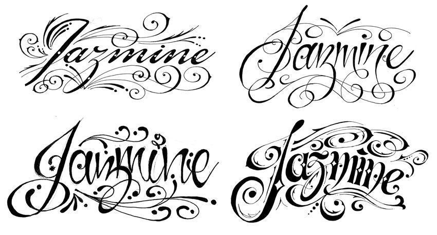 Letra Pegada Para Tatuajes Abecedario Imagui Tattoos Pinterest