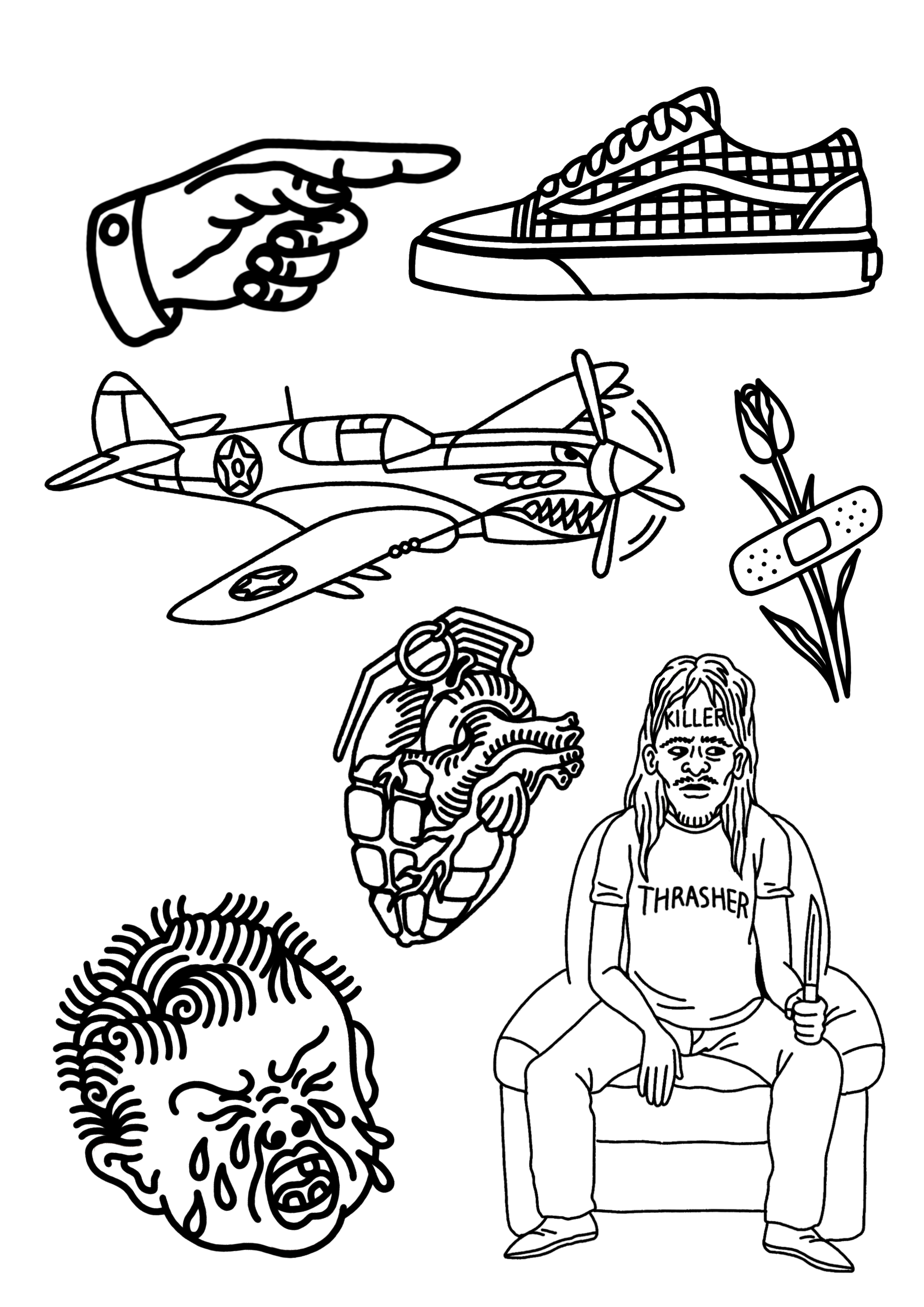 Bocetos De Tatuajes Tradicionales pin de dennys hidalgo en tatuajes | tatuajes raros, tatuajes