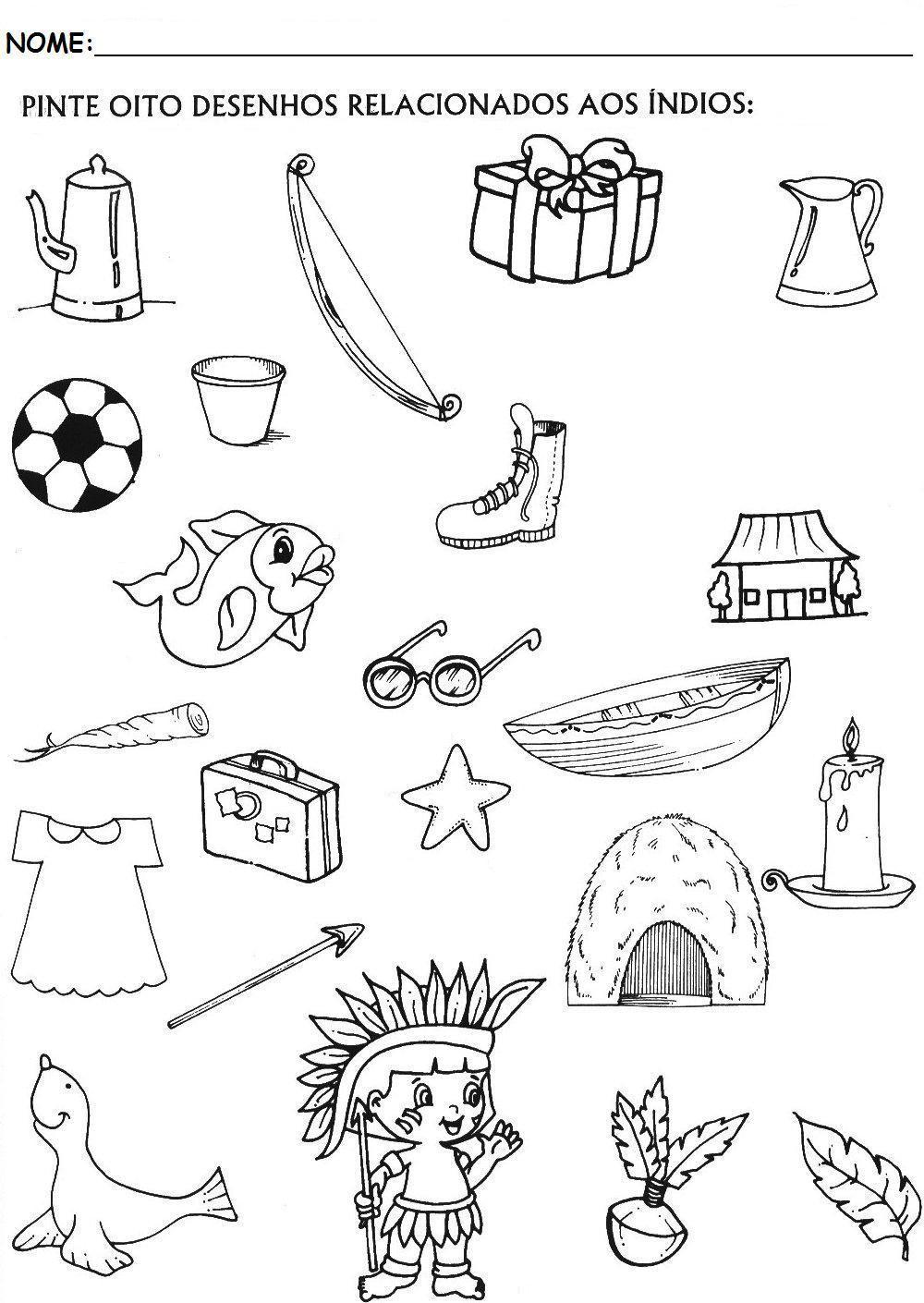 Dia Do Indio Desenhos Atividades Exercicios Com Imagens