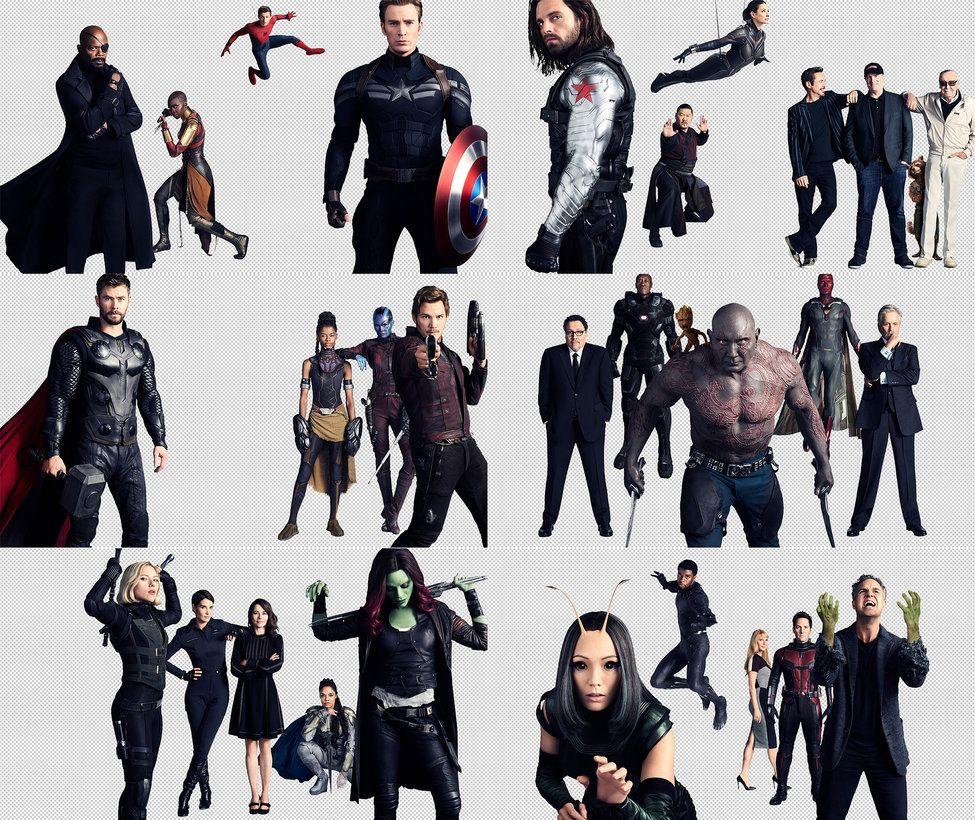 Marvel Avengers Infinity War Character Promo Transparent Background 6000x3990 Psd Nbsp Enjoy Avengers Infinity War Avengers Infinity War