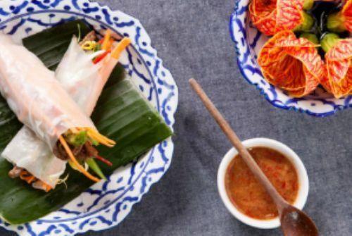 Rolinhos vietnamitas com tirinhas de carne e vegetais  Gastronomia e Receitas - Yahoo Mulher