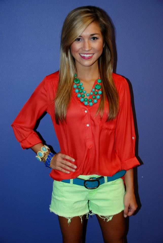 website has the cutest clothes and they're not super expensive.  orange and teal :)