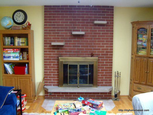 Remove The Brick Shelves From The Fireplace With An Angle Grinder