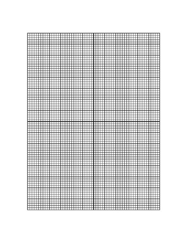 Math Grid Paper Template Downloadable Graph Paper  Graph Paper