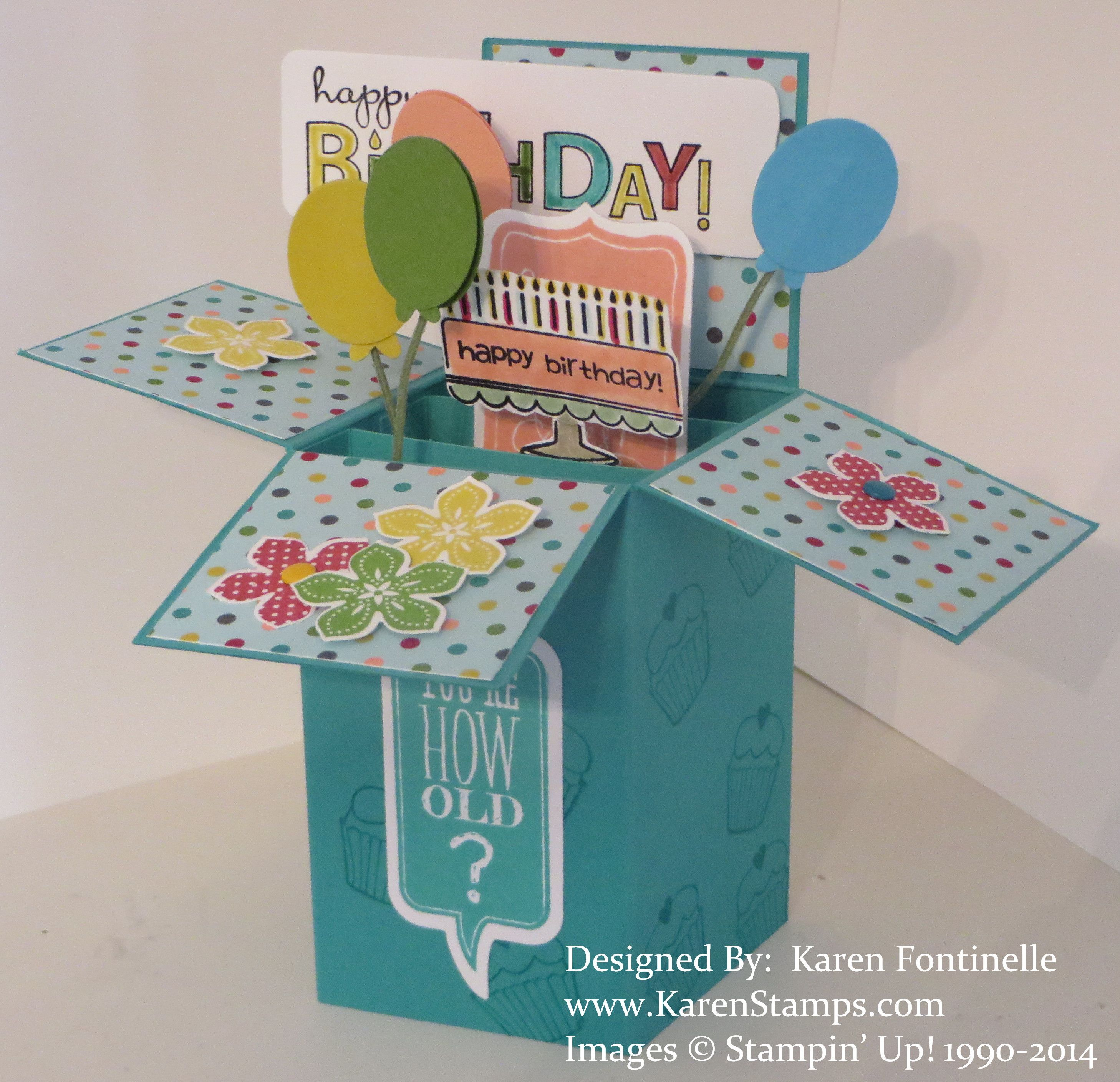 Pop Up Box Cards, Cricut