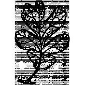 Plantilla sello Oak Leaf
