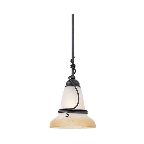 Sea Gull Lighting Mini-Pendant Light with Amber Glass | 6146-185 | Destination Lighting