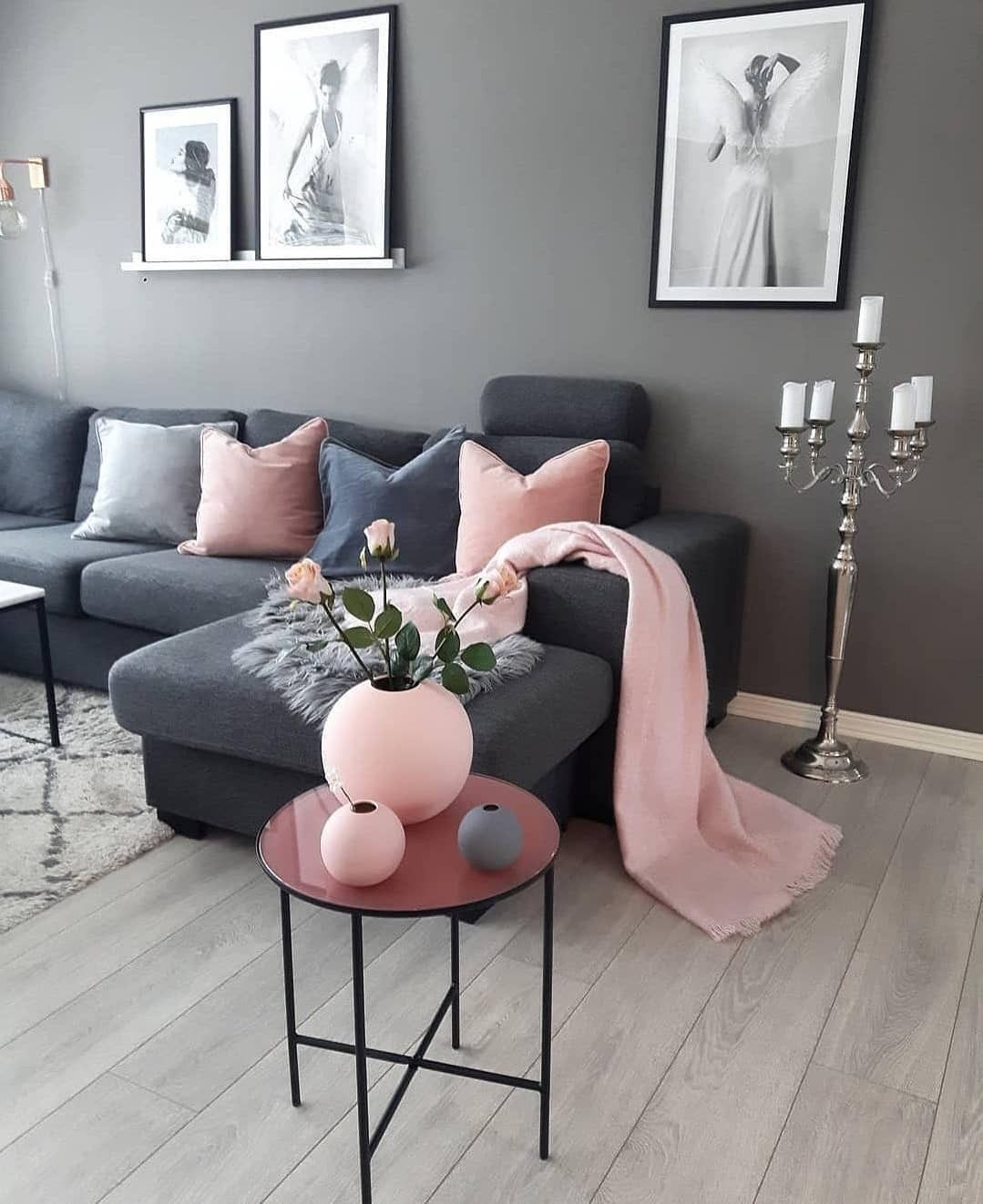 A Modern Living Room With Incredible Mid Century Modern Furniture Living Room Ideas Living Room Decor Apartment Pink Living Room Gray Living Room Design Small grey living room