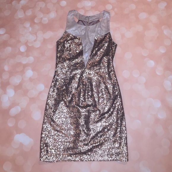 Ark & Co Gold Sequin Dress size Small Ark & Co Gold sequin dress. Size small. Fully lined. Worn once to a formal- excellent condition. Hidden zipper. Ark & Co Dresses Mini