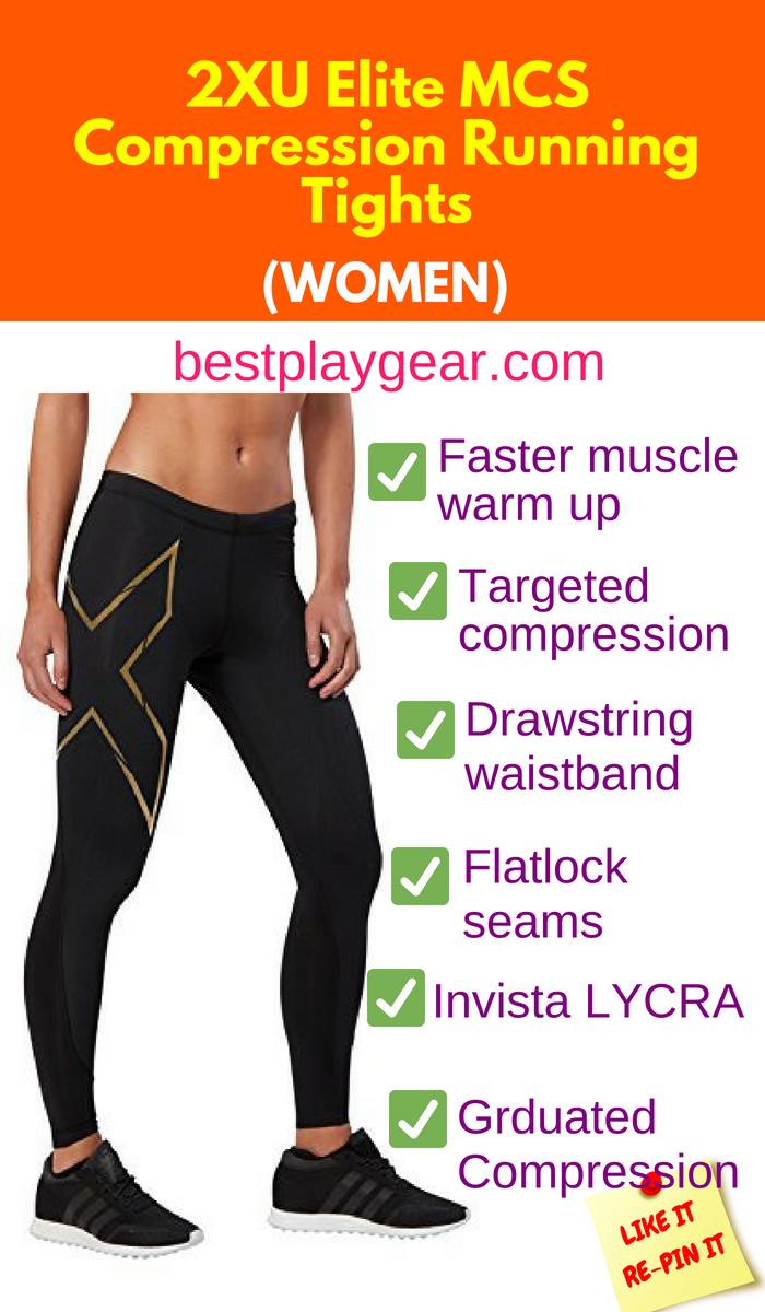 New 2XU Women MCS Run Compression Tight Muscle Containment Stamping for Running