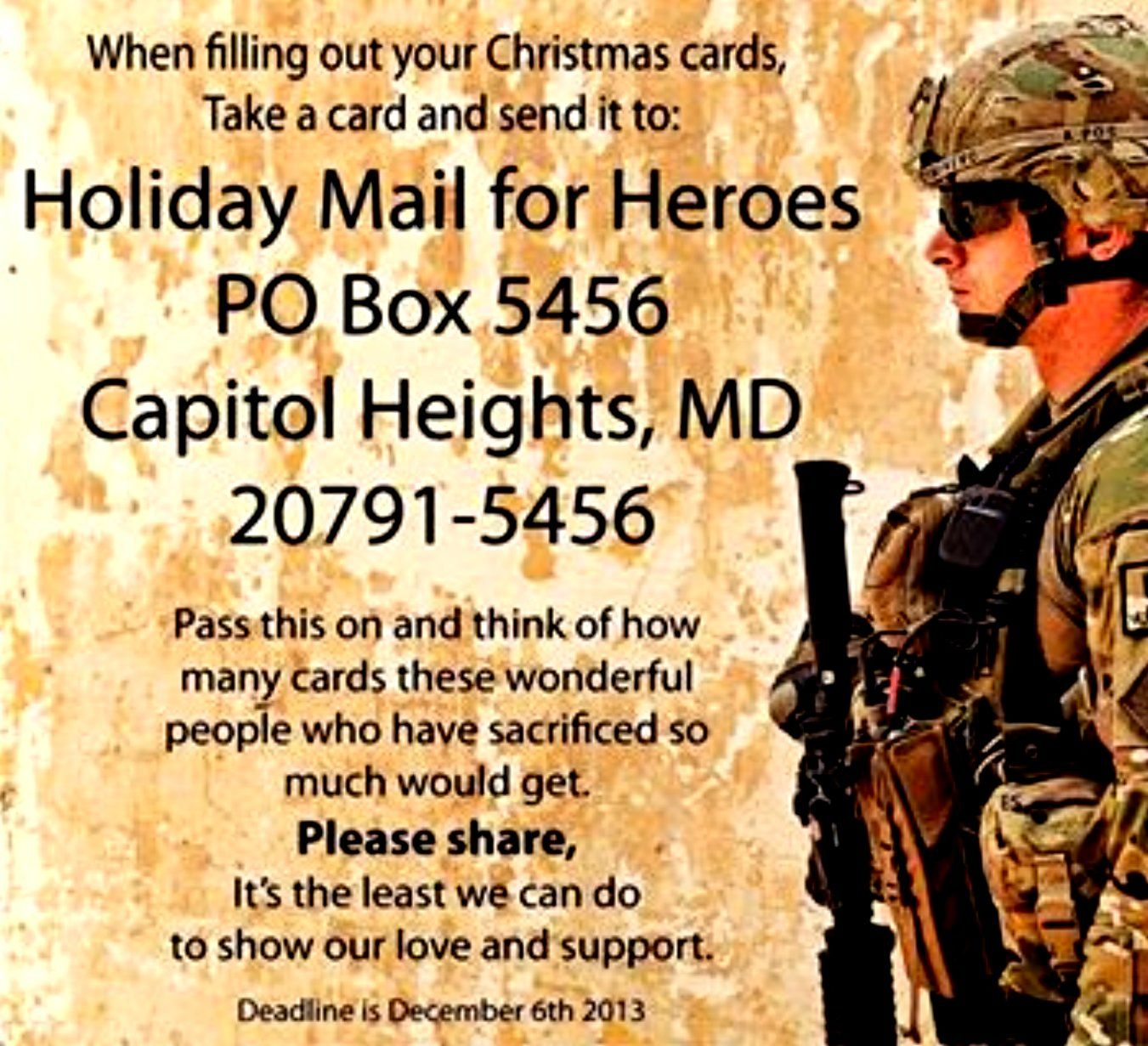 send cards to soldiers | christmas/good things to do for the ...