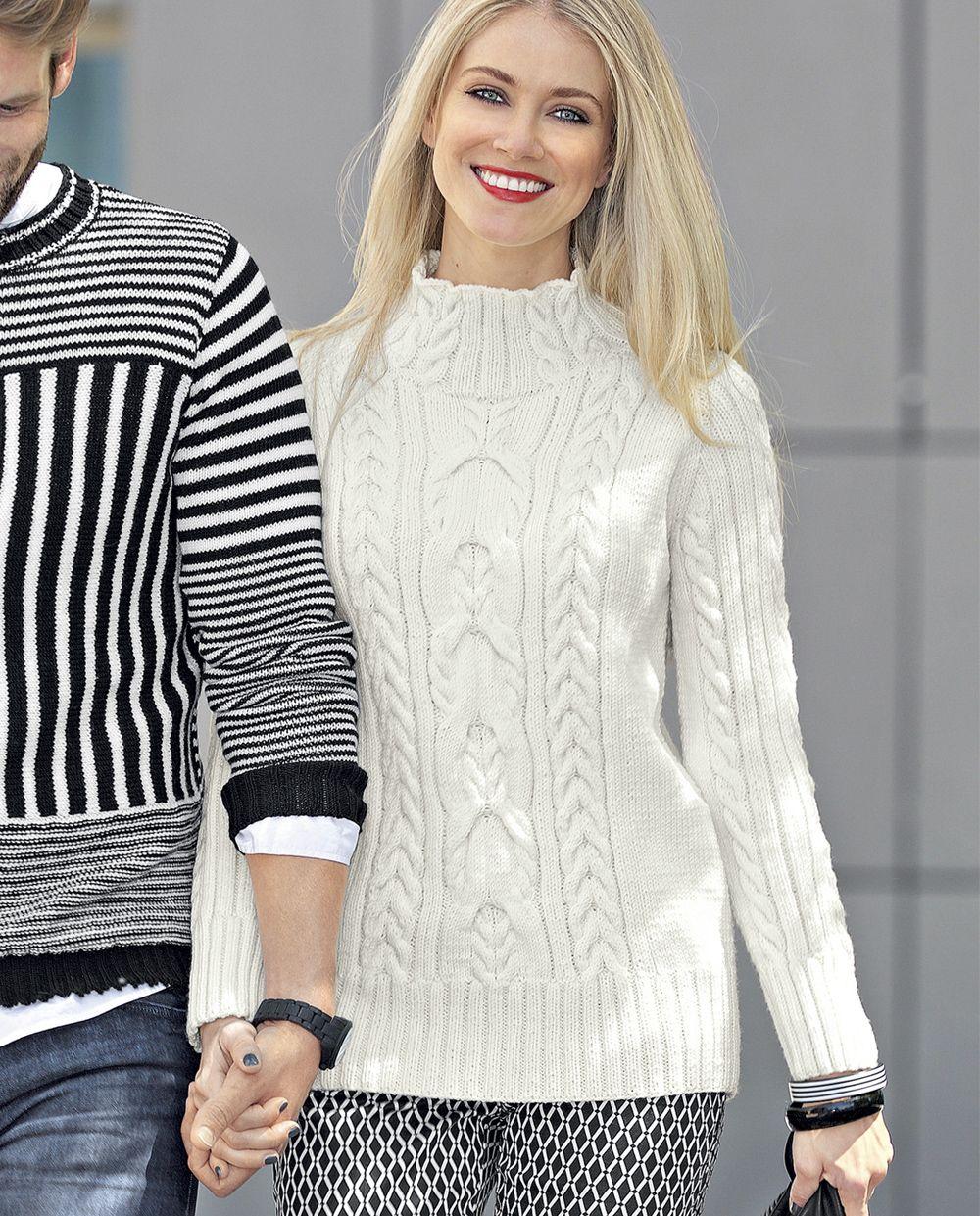 вязаные пуловеры из гедифры схемы