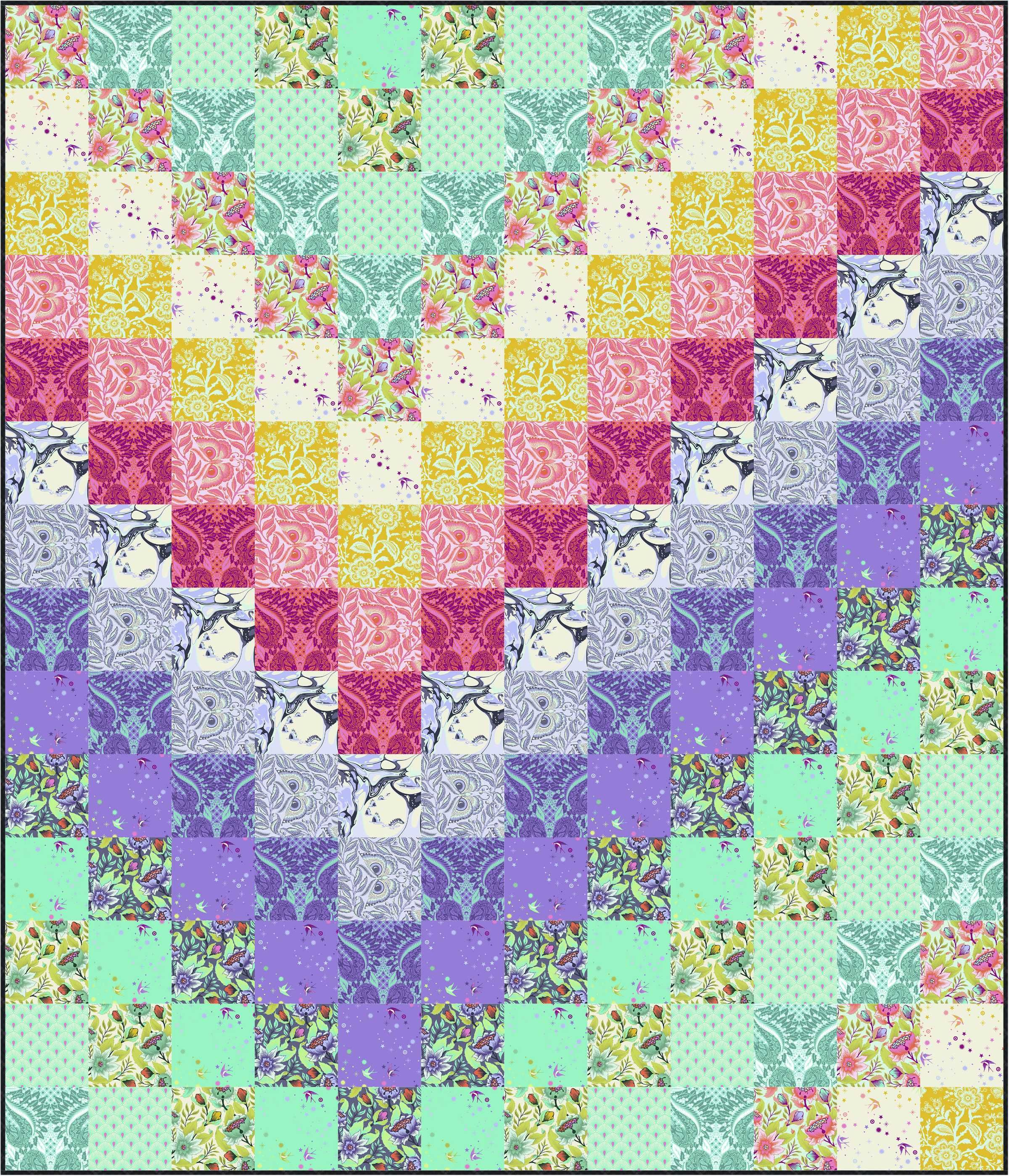 Sew A Color By Number Quilt Free Quilt Pattern With