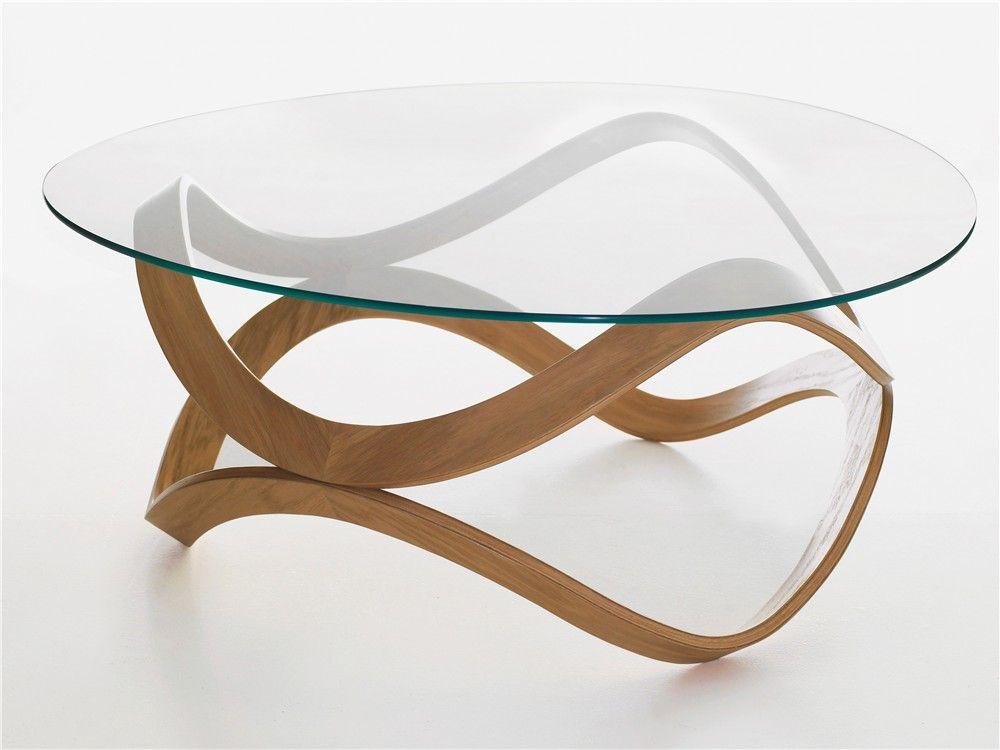 Low Round Gl Coffee Table Newton By Karl Andersson Design Dan Sunaga Staffan Holm