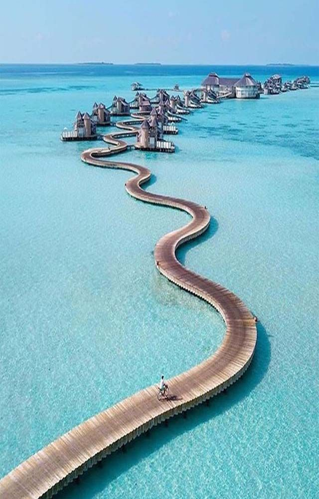 Ride In Bicycle In Maldives Is Amazing Ideal Blush In 2020 Cool Places To Visit Beautiful Places To Travel Vacation Places