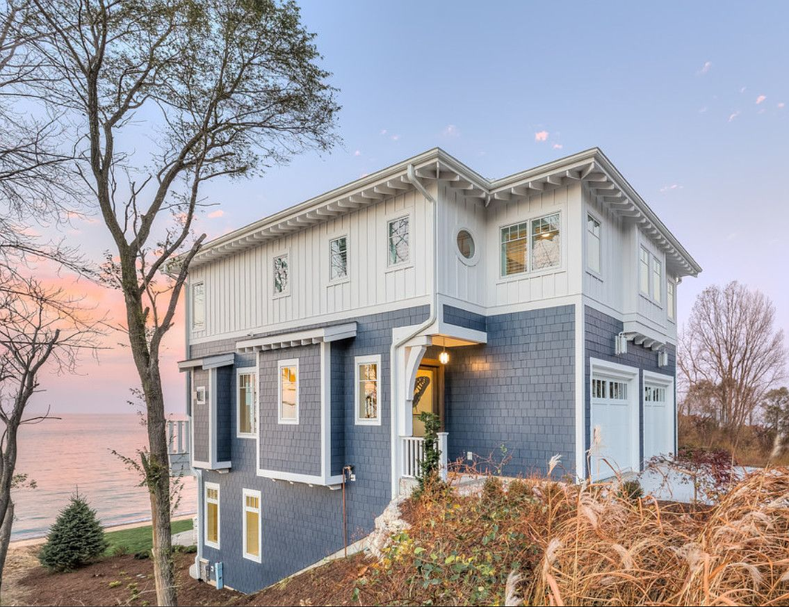 beach house exterior paint color inspiration beach house painted in vivid blue exterior. Black Bedroom Furniture Sets. Home Design Ideas
