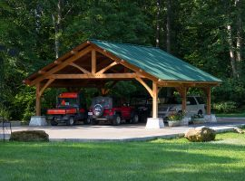 Thomas timber frame carport dreaming creek cabin