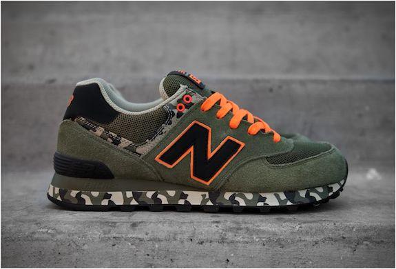 new balance 574 uomo verde militare