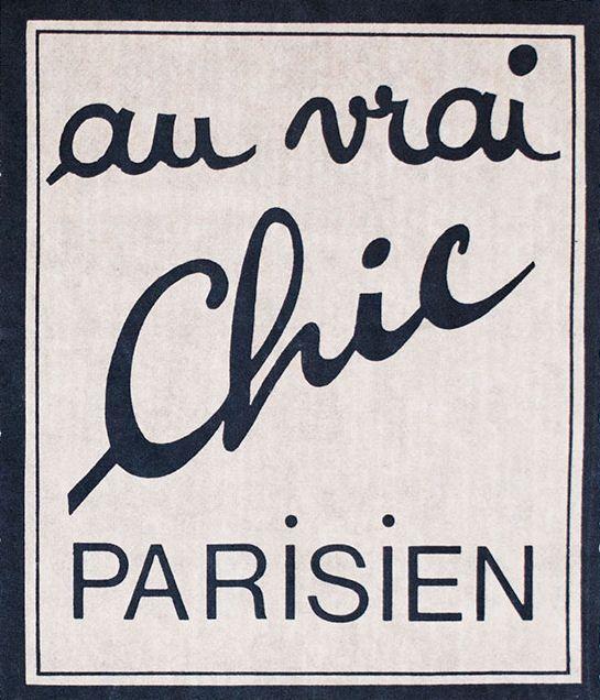 au vrai chic parisien typography typography parisian. Black Bedroom Furniture Sets. Home Design Ideas