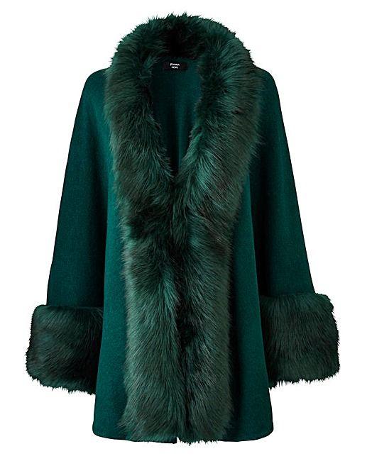 Womens Fur Collar Denim Trench Coat JD Williams