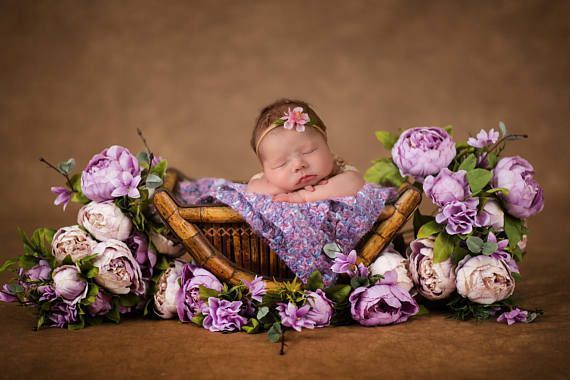 Floral vintage newborn digital backdrop prop soft looking