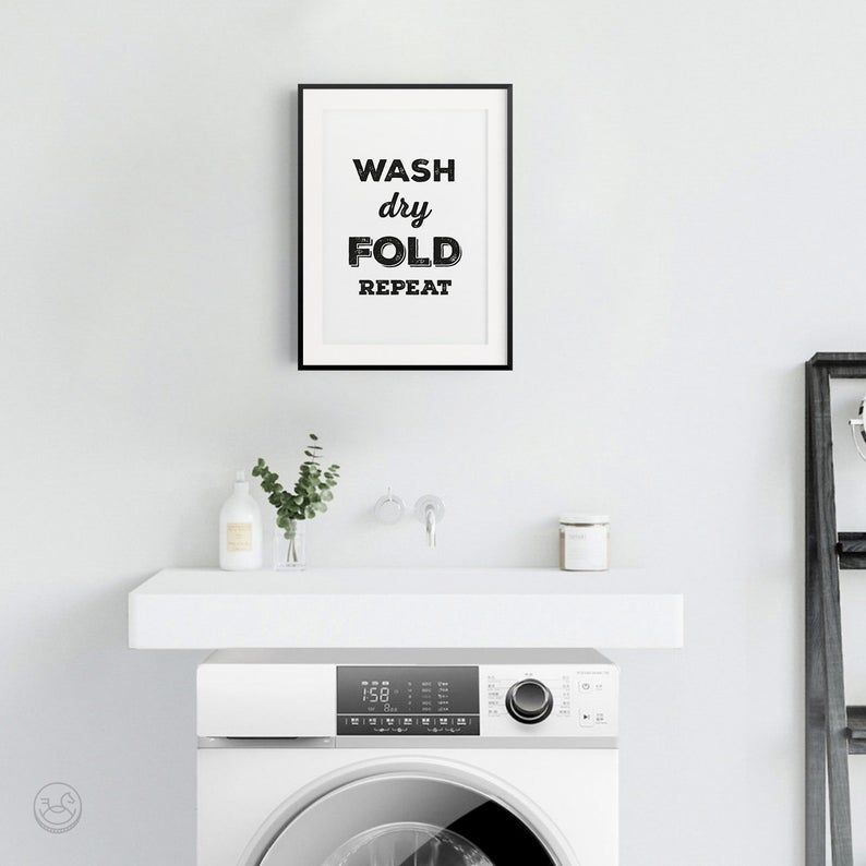 Laundry Room Signs Laundry Room Print Printable Art Laundry