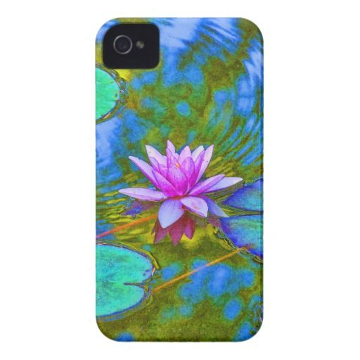 Elegant Reflections Pink Water Lily in Pond Case-Mate iPhone 4 Cases