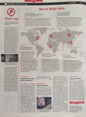 Becoming #famous :D - jetzt auch in der #Internet World Business ein #Artikel über das beste #Startup überhaupt!