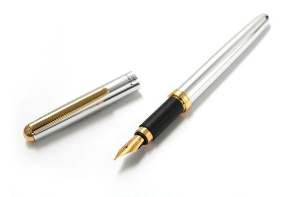 Ohto F-Lapa Fountain Pen - Fine Nib - Silver Body by Ohto  $16.50