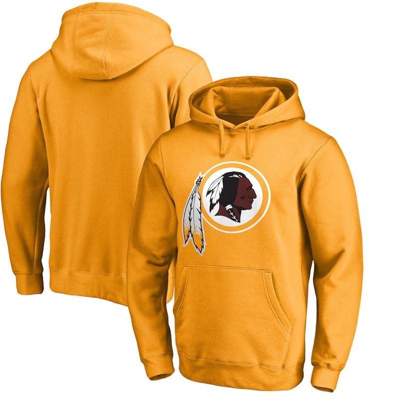 Washington Redskins NFL Pro Line by Fanatics Branded Primary Logo Pullover  Hoodie - Gold 140e78e83