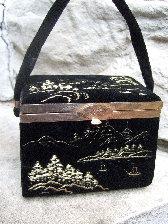 Enchanting Embroidered Velvet Handbag c by worldmarketproductio
