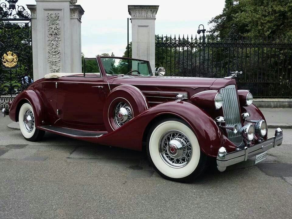 1936 Packard 12 Roadster Classic Cars Vintage Cars Classic Cars Vintage