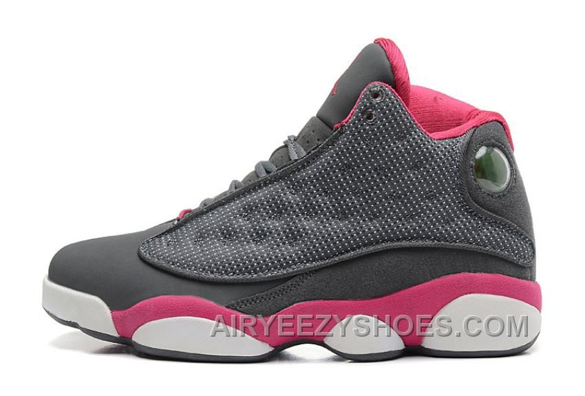 2f6e6c800a56 Find Girls Jordans Retro 13 Womens Grey Fusion Pink-White online or in  Nikelebron. Shop Top Brands and the latest styles Girls Jordans Retro 13  Womens Grey ...