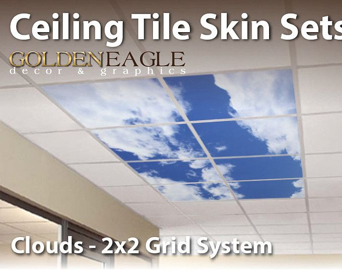 Drop Ceiling Decorative Tiles Prepossessing Change The Look Of Your Drop Ceiling With Ceiling Tile Skins From Decorating Inspiration