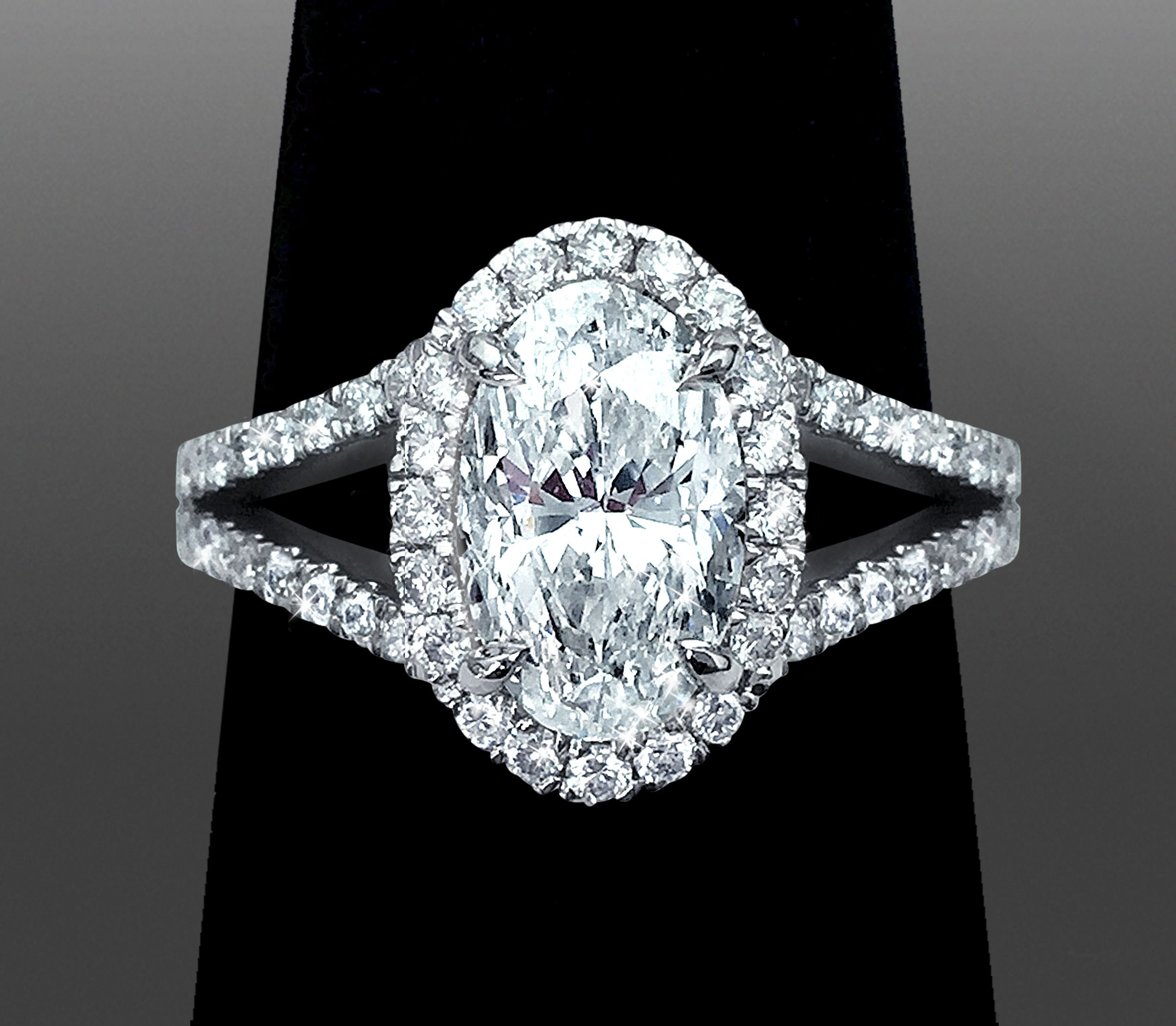 diamond oval classic ring beers solitaire engagement cut platinum de db