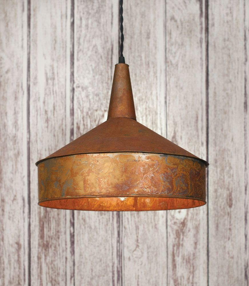 Vintage industrial rustic style funnel pendant light lamp farmhouse