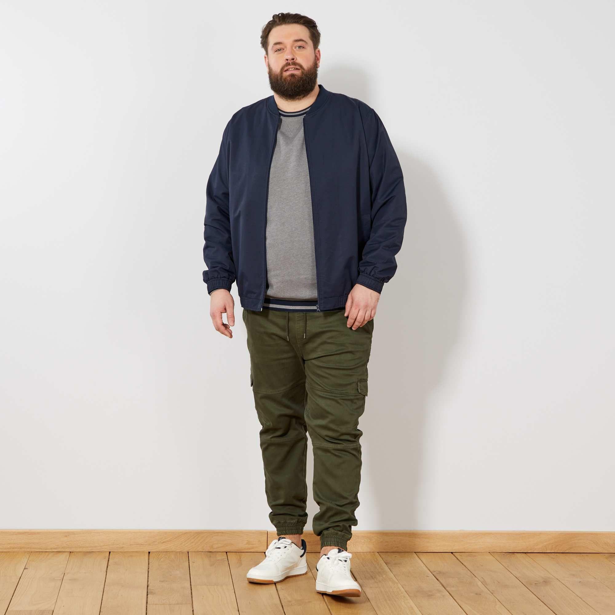 386633b6b7a1 Pantaloni cargo stile pantaloni da tuta Taglie forti uomo - verde selva -  Kiabi - 25