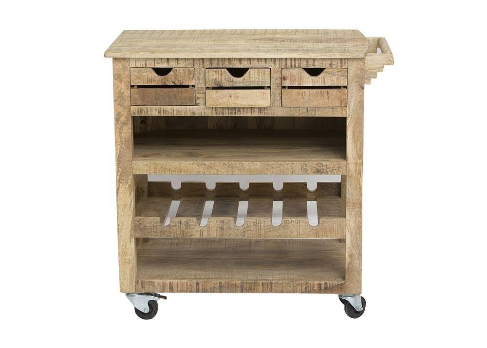 Küchenwagen Frigo Servierwagen Teewagen Holz Massiv Mango 7710. Buy ...