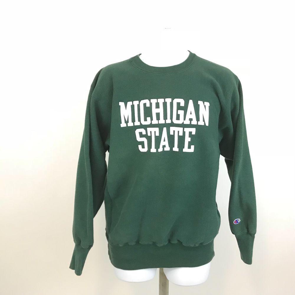 Vintage Champion Reverse Weave Michigan State Spartans Sweatshirt Sz Xl Green Champion Michiganstatespart Champion Reverse Weave Sweatshirts Blue Sweatshirt [ 1000 x 1000 Pixel ]