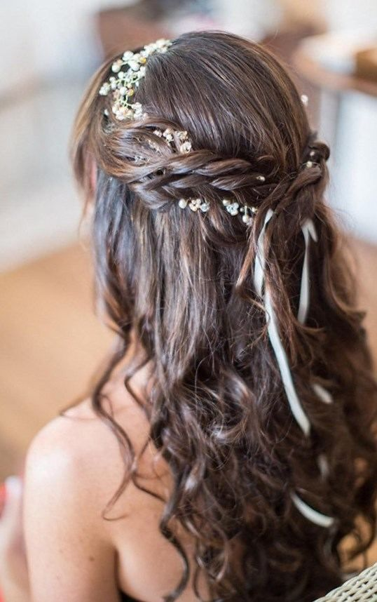 30++ Coiffure mariage simple cheveux mi long inspiration