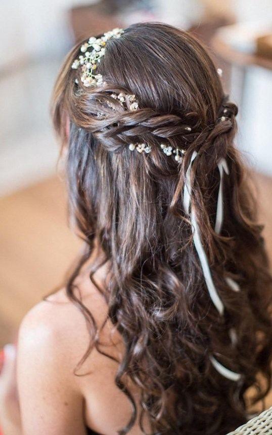 Coiffure mariage cheveux mi long lachés\u2026 en 2019