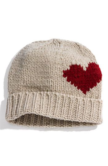 cute knit heart hat  29bcf6a890c