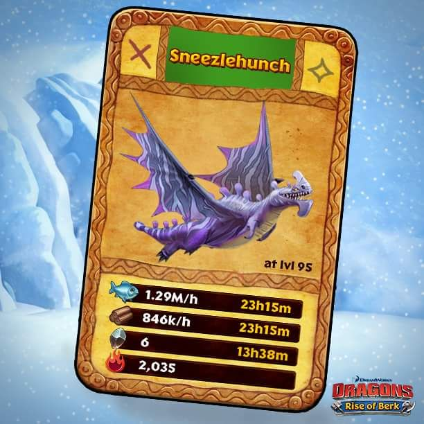 Dragons: Rise of Berk - Sneezlehunch card