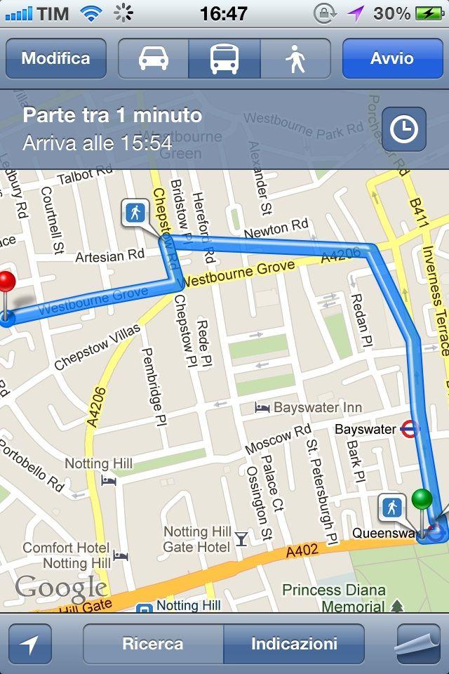 Google Maps In viaggio, Viaggi, App