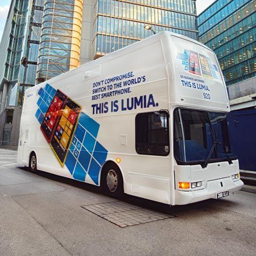 nokia lumia roadshow bus double decker store roadshow bus