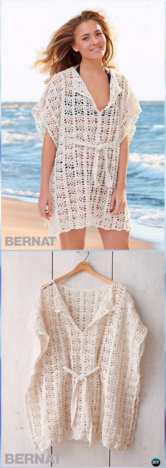 Crochet beach cover up free patterns for women beach covers crochet beach cover up free patterns for women bankloansurffo Images